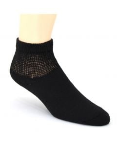 Foot Care Women's Diabetic and Circulatory Comfort Socks 2 Pack Black
