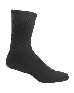 Fruit of the Loom Men's 6-Pack Crew Socks Black