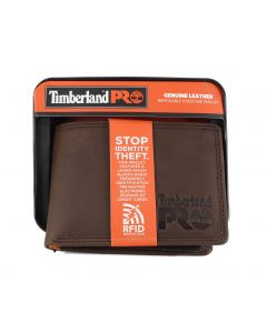Timberland Removable Passcase Wallet Dark Brown