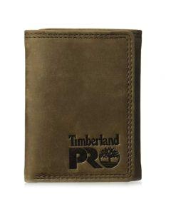 Timberland Men's Trifold Wallet Dark Brown