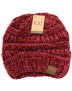 C.C. Exclusives Women's Chenille Burgandy