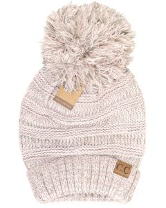 C.C. Exclusives Women's Knit Pom Slouchy Rose