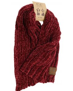 C.C. Exclusives Women's Chenille Scarf Burgundy