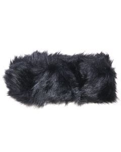 Magic Scarf Women's Faux Fur Ear Warmer Black