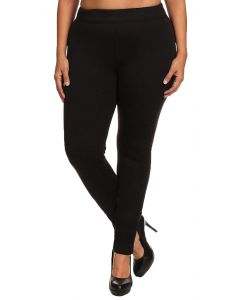 A & O International Women's Twill Leggings Black