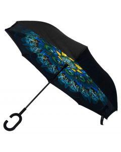 Parquet Inverted Umbrella Peacock