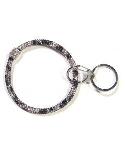 Queens Designs Ring Key Fobs Black White