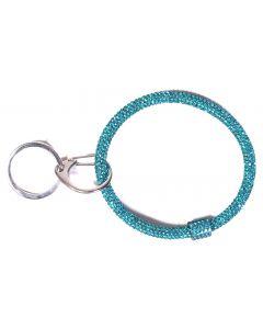 Queens Designs Ring Key Fobs Aqua