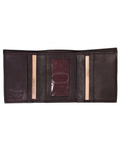 Leather Impressions Men's Trifold Wallet Brown