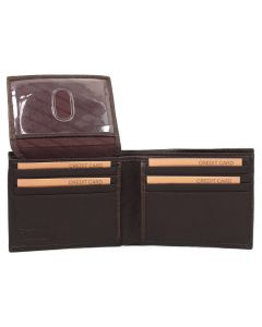 Leather Impressions Men's Bifold Wallet Brown