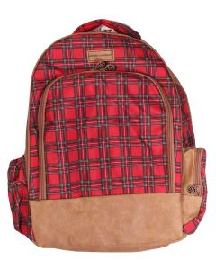 Simply Southern Leather Backpack Tartan