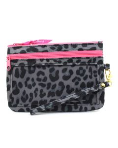 Simply Southern Phone Wristlet Leopard Grey