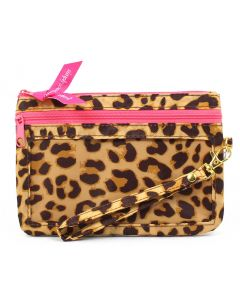 Simply Southern Phone Wristlet Leopard Cream