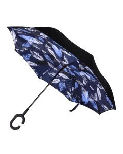 Parquet Inverted Umbrella Blue Leaf