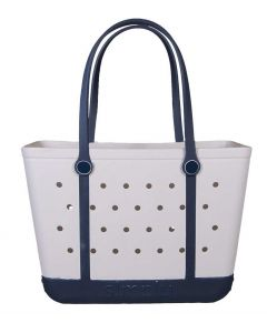 Simply Southern Eva Large Tote White