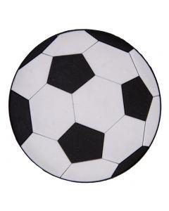 Simply Southern Soccer Charm Black White