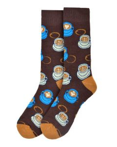 Parquet Men's Socks Coffee