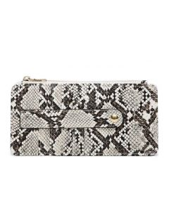 Jen & Co. Saige Wallet Python Brown