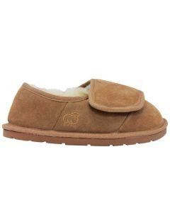 Lamo Women's Closed Toe Heel Wrap Bootie Chestnut